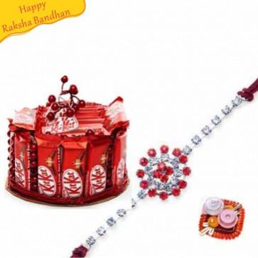 Buy Choco Mania With Rakhi Online on Rakshabandhan with India, worldwide delivery options