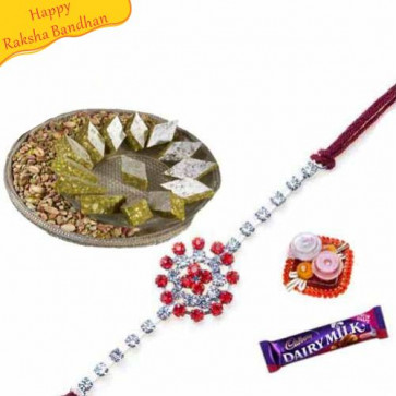 Buy Dryfruit Katali With Rakhi Online on Rakshabandhan with India, worldwide delivery options