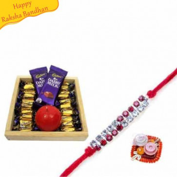Buy Chocolate Love With Rakhi Online on Rakshabandhan with India, worldwide delivery options