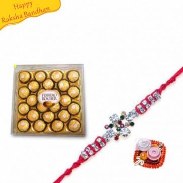 Buy Ferrero Rocher With Rakhi Online on Rakshabandhan with India, worldwide delivery options