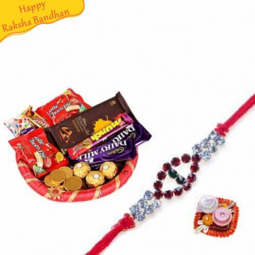 Buy Happy Food Hamper With Rakhi Online on Rakshabandhan with India, worldwide delivery options
