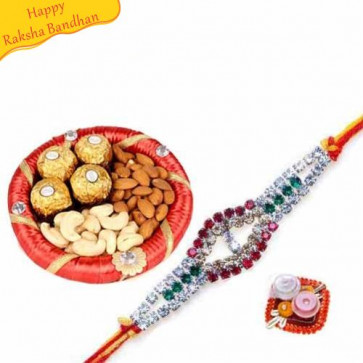 Buy Healthy Hamper With Rakhi Online on Rakshabandhan with India, worldwide delivery options