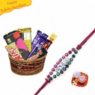 Buy Imported Assorted Chocolates With Rakhi Online on Rakshabandhan with India, worldwide delivery options