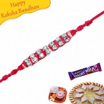 Buy American Diamond Thread Rakhi Online on Rakshabandhan with India, worldwide delivery options