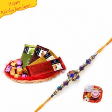 Buy Temptations Chocolates With Rakhi Online on Rakshabandhan with India, worldwide delivery options