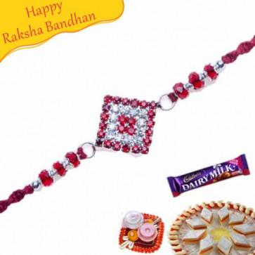 Buy Diamond Shape Rakhi Online on Rakshabandhan with India, worldwide delivery options