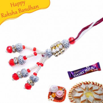 Buy Beautiful Diamond Studed Fancy Rakhi Online on Rakshabandhan with India, worldwide delivery options