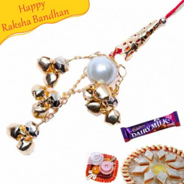Buy Jewelled Lumba Rakhi Online on Rakshabandhan with India, worldwide delivery options