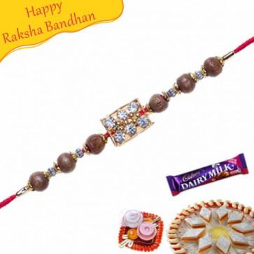 Buy Wooden Beads Jewelled Rakhi Online on Rakshabandhan with India, worldwide delivery options