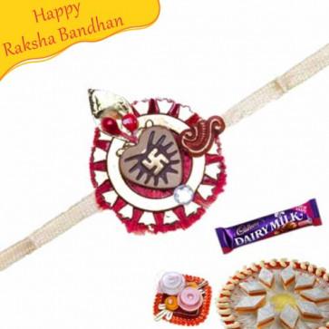 Buy Swastik Thread Rakhi Online on Rakshabandhan with India, worldwide delivery options