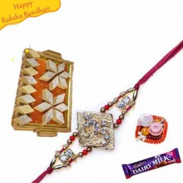 Buy Badam katri With rakhi Online on Rakshabandhan with India, worldwide delivery options