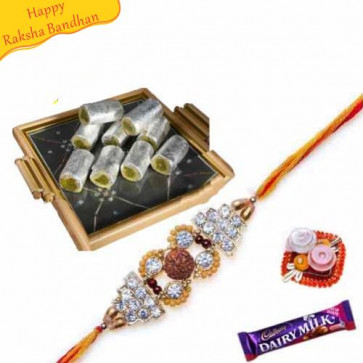 Buy Pista Roll With rakhi Online on Rakshabandhan with India, worldwide delivery options