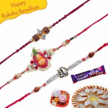 Buy Premium Rakhis Trio Online on Rakshabandhan with India, worldwide delivery options