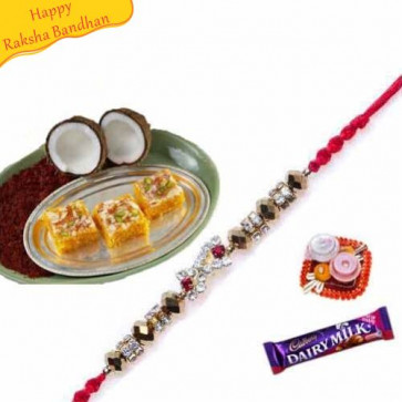 Buy Kopra pak with rakhi Online on Rakshabandhan with India, worldwide delivery options