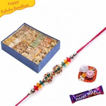 Buy Ghee Mix With rakhi Online on Rakshabandhan with India, worldwide delivery options