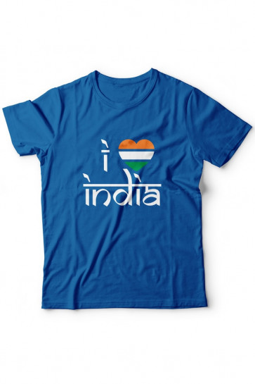 I love India - Cotton Tshirt  From Deshidukan Buy online in Gujarat, Ahmedabad, Rajkot, Surat, Vadodara
