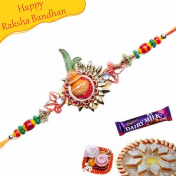 Buy Kalash Mauli Rakhi Online on Rakshabandhan with India, worldwide delivery options