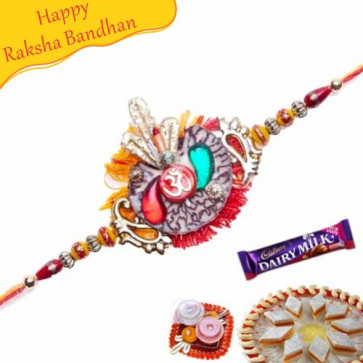 Buy Om Beads Rakhi Online on Rakshabandhan with India, worldwide delivery options