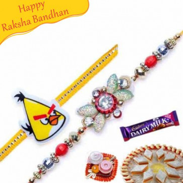 Buy Daimond and Kids Rakhi pair Online on Rakshabandhan with India, worldwide delivery options