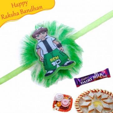 Buy Ben10 Kids Rakhi Online on Rakshabandhan with India, worldwide delivery options