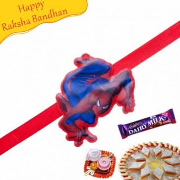Buy Spiderman Kids Rakhi Online on Rakshabandhan with India, worldwide delivery options