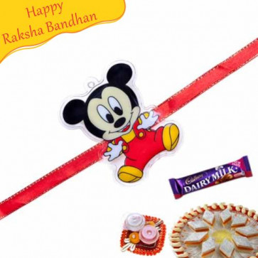 Buy Mickey Mouse Kids Rakhi Online on Rakshabandhan with India, worldwide delivery options