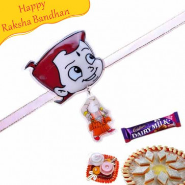 Buy Chhota Bheem Keychain Ring Kids Rakhi Online on Rakshabandhan with India, worldwide delivery options