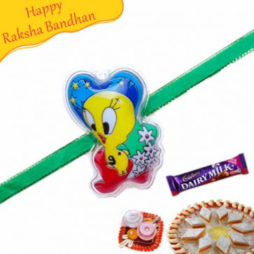Buy Tweety Kids Rakhi Online on Rakshabandhan with India, worldwide delivery options