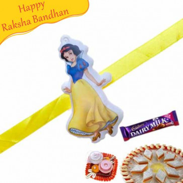 Buy Princess Kids Rakhi Online on Rakshabandhan with India, worldwide delivery options