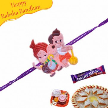 Buy Bal Ganesha And Bal Hanuman Kids Rakhi Online on Rakshabandhan with India, worldwide delivery options