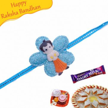 Buy Chhota Bheem Floral Design Kids Rakhi Online on Rakshabandhan with India, worldwide delivery options