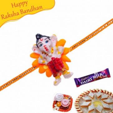 Buy Ganesha Kids Rakhi Online on Rakshabandhan with India, worldwide delivery options