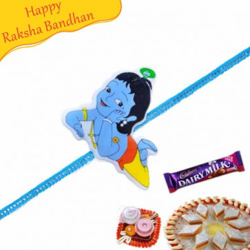 Buy Bal Krishna Kids Rakhi Online on Rakshabandhan with India, worldwide delivery options