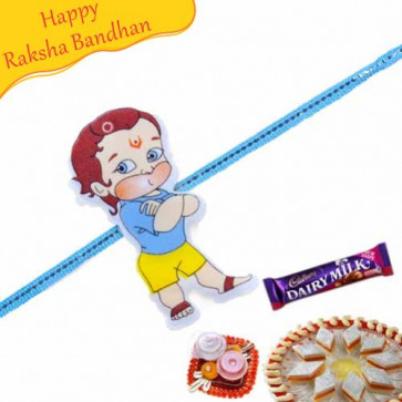 Buy Modern Bal Hanuman Rakhi Online on Rakshabandhan with India, worldwide delivery options