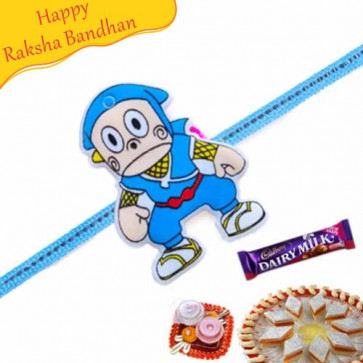 Buy Doraemon Fancy Kids Rakhi Online on Rakshabandhan with India, worldwide delivery options