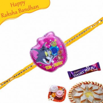 Buy Tom And Jerry Kids Rakhi Online on Rakshabandhan with India, worldwide delivery options