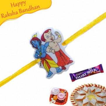 Buy Bal Krishna Choota Bheem Kids Rakhi Online on Rakshabandhan with India, worldwide delivery options