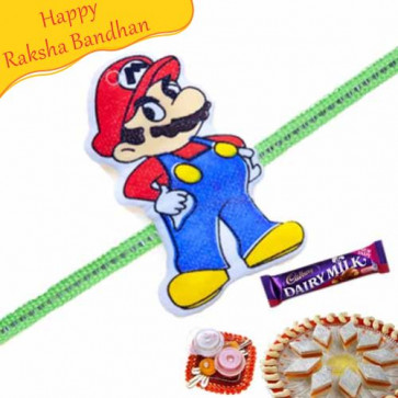 Buy Mario Kids Rakhi Online on Rakshabandhan with India, worldwide delivery options