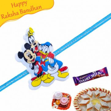 Buy Disney Lovers Kids Rakhi Online on Rakshabandhan with India, worldwide delivery options