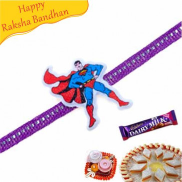 Buy Superman Kids Rakhi Online on Rakshabandhan with India, worldwide delivery options