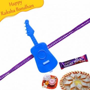 Buy Guitar Kids Rakhi Online on Rakshabandhan with India, worldwide delivery options