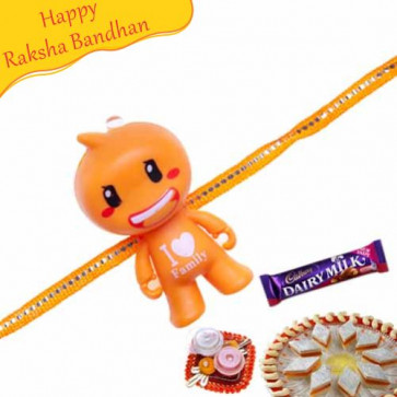 Buy I Love Family Kids Rakhi Online on Rakshabandhan with India, worldwide delivery options