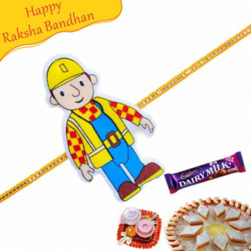 Buy Bob The Builder Kids Rakhi Online on Rakshabandhan with India, worldwide delivery options