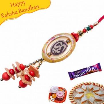 Buy Fancy Om Rakhi Online on Rakshabandhan with India, worldwide delivery options