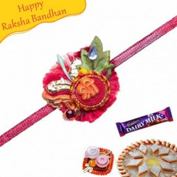 Buy Shree Beads Rakhi With Swastiks Online on Rakshabandhan with India, worldwide delivery options