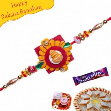 Buy Kalash, Multicolour Beads Mauli Rakhi Online on Rakshabandhan with India, worldwide delivery options