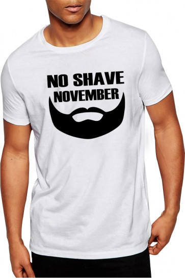 No Shave November Tshirt - Buy Online India with Free Shipping White