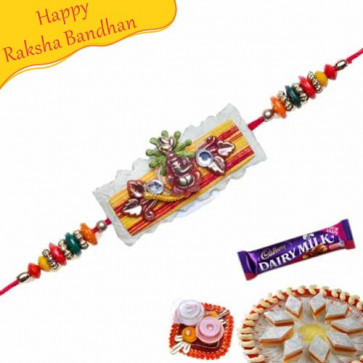 Buy Ganesha Beads Rakhi Online on Rakshabandhan with India, worldwide delivery options
