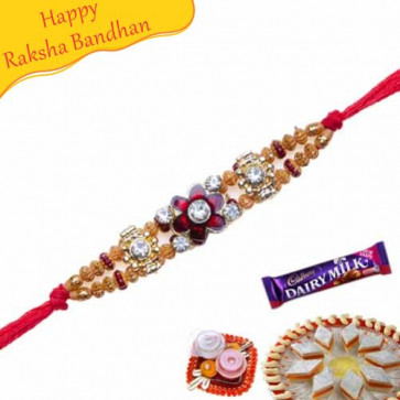 Buy Crystal Beads Jewelled Rakhi Online on Rakshabandhan with India, worldwide delivery options