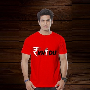 Rakhdu Cotton Tshirt - Red